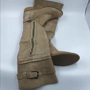 Knee high taupe color boots *MAKE OFFER*